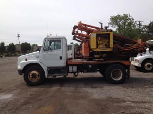 GRT Single Axle Used Highway Guardrail Post Driver 9oc view
